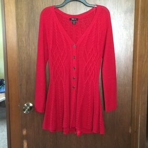 Dress Sweater button down Small Red